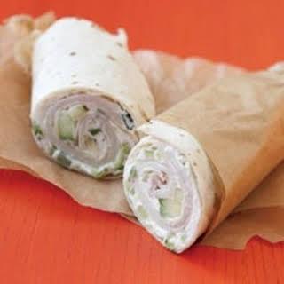 Wrap Sandwich with Turkey & Cukes.