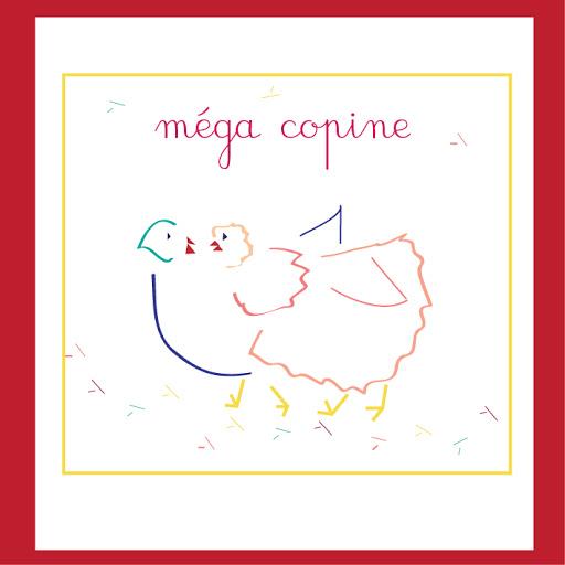 Carte Amitié Enfant - Méga copine  - Anniversaire - Remerciements