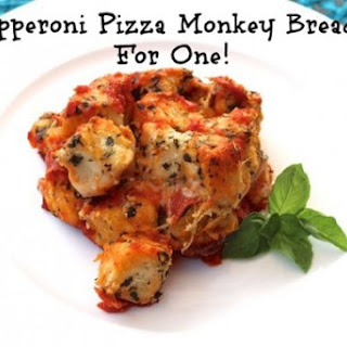 Pepperoni Pizza Monkey Bread, For One!