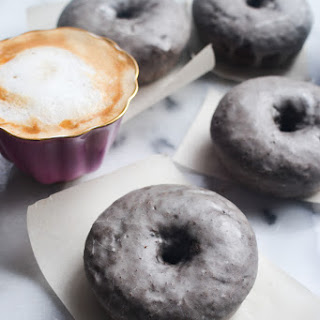 Espresso Glazed Chocolate Doughnuts.