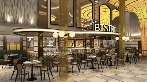 Carnival's Mardi Gras will set sail with Emeril's Bistro, the authentic New Orleans bayou restaurant from chef Emeril Lagasse (rendering).