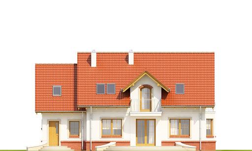 Dom Dla Ciebie 1 w2 z garażem 1-st. A - Elewacja tylna