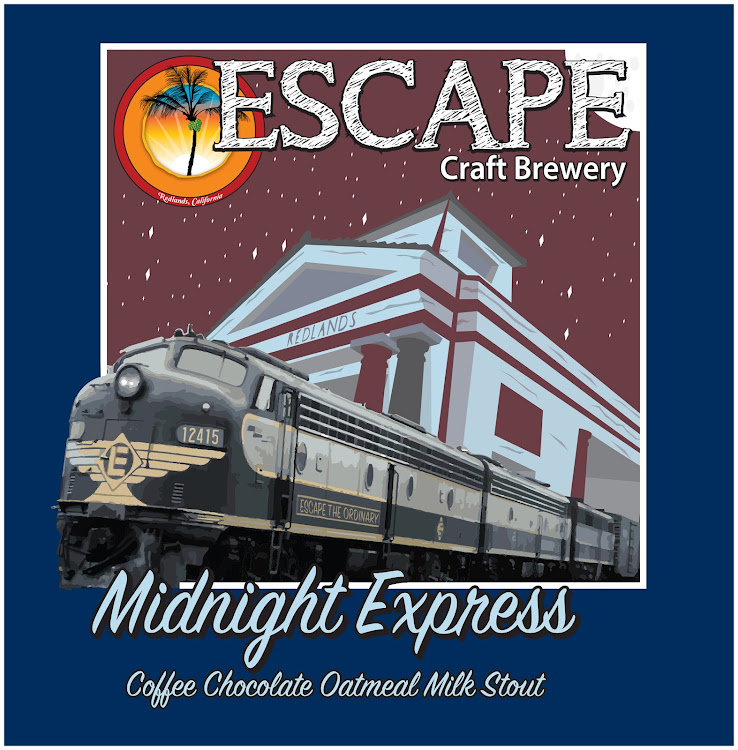 Logo of Escape Midnight Express, coffee chocolate oatmeal milk stout
