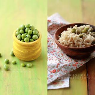 Matar pulav ~ Green peas pulav