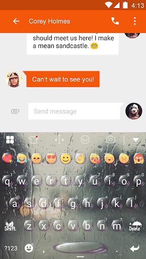 玩免費遊戲APP|下載Rain Eva Keyboard -DIY Gifs app不用錢|硬是要APP