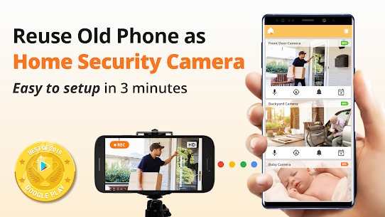 Alfred Home Security Camera, Baby Monitor, Webcam – Mod APK (Unlimited) 1