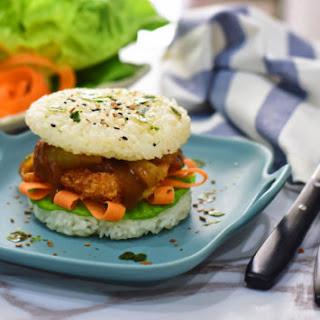 Chicken Katsu Curry Rice Burger.