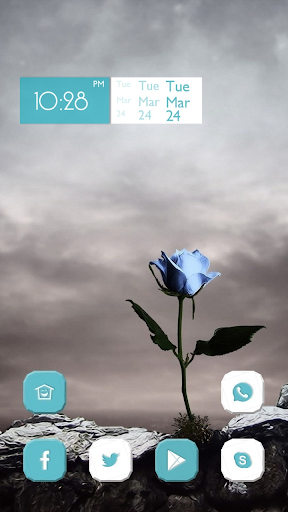 Lonely Blue Rose