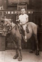 Photo: Bob riding a pony in 1941.