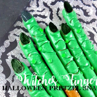 Witches Fingers Halloween Pretzel Snack.