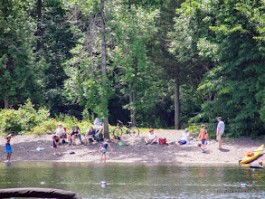 Photo: Busy day at the Burton Island State Park beach by Sara Hayes