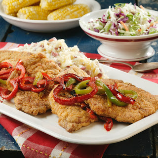 Country-Fried Pork & Peppers.