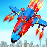 Flying Robot Rocket Transform Robot Shooting Games