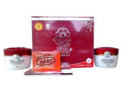 Paket Cream Sari Normal Coklat untuk Kulit Normal menyamarkan noda hitam memutihkan mengecilkan pori kulit