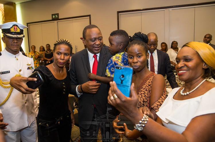 President Uhuru Kenyatta meeting with Kenyans in Diaspora.