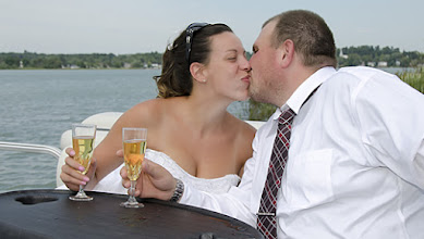 Photo: Pontoon Boat ride after the wedding