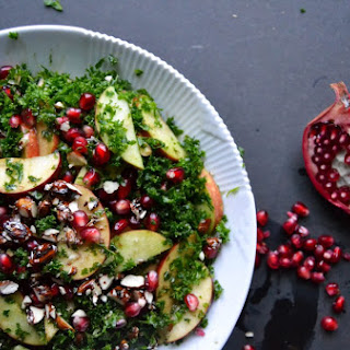 Winter Salad with Kale & Pomegranate dressed with a Balsamic Dressing