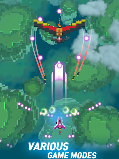 Sky Wings: Pixel Fighter 3D modavailable screenshots 10