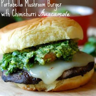 Portabella Mushroom Burgers with Chimichurri Guacamole