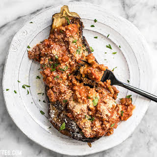 Roasted Eggplant with Meat Sauce.