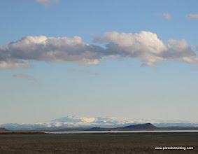 Photo: Steens Mountain from the north shore of Malheur Lake