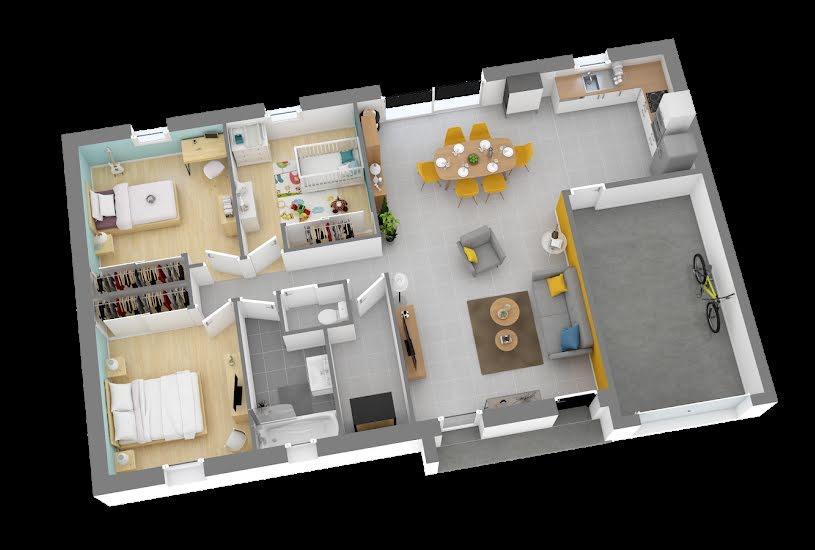 Vente Terrain + Maison - Terrain : 510m² - Maison : 83m² à Derval (44590)