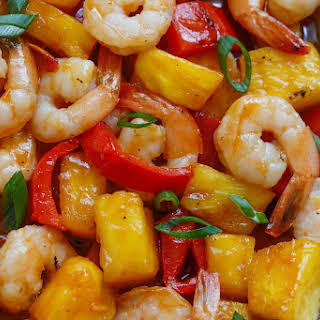 Pineapple Barbecue Shrimp.