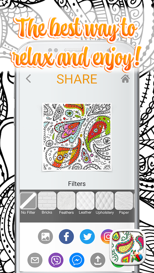 Paisley Coloring Pages Screenshot
