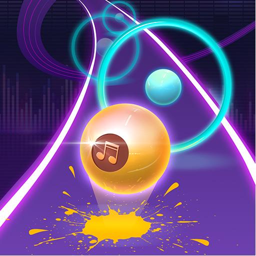Dancing Neon Ball: Rush Road Icon