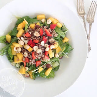 Nourishing bowl - Quinoa, mango and nut salad.
