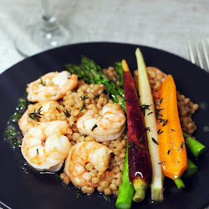 Shrimp with Vegetables and Couscous