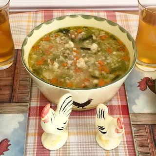 Classic German Barley Soup.