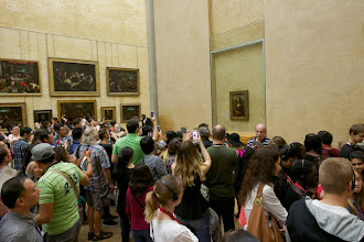 Photo: This is the most justice I can do to the Mona Lisa. Everyone knows what the painting looks like, so why they have to get a photo of it is beyond me.