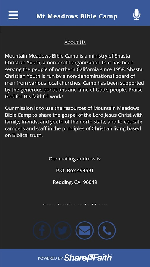 Mt Meadows Bible Camp- screenshot