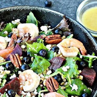 Blueberry Farro Salad.