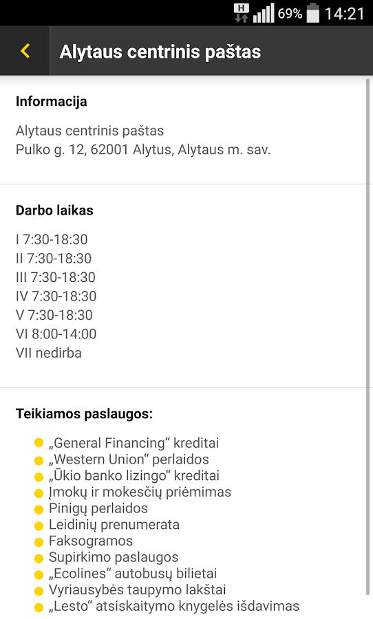 Lithuania Post- screenshot