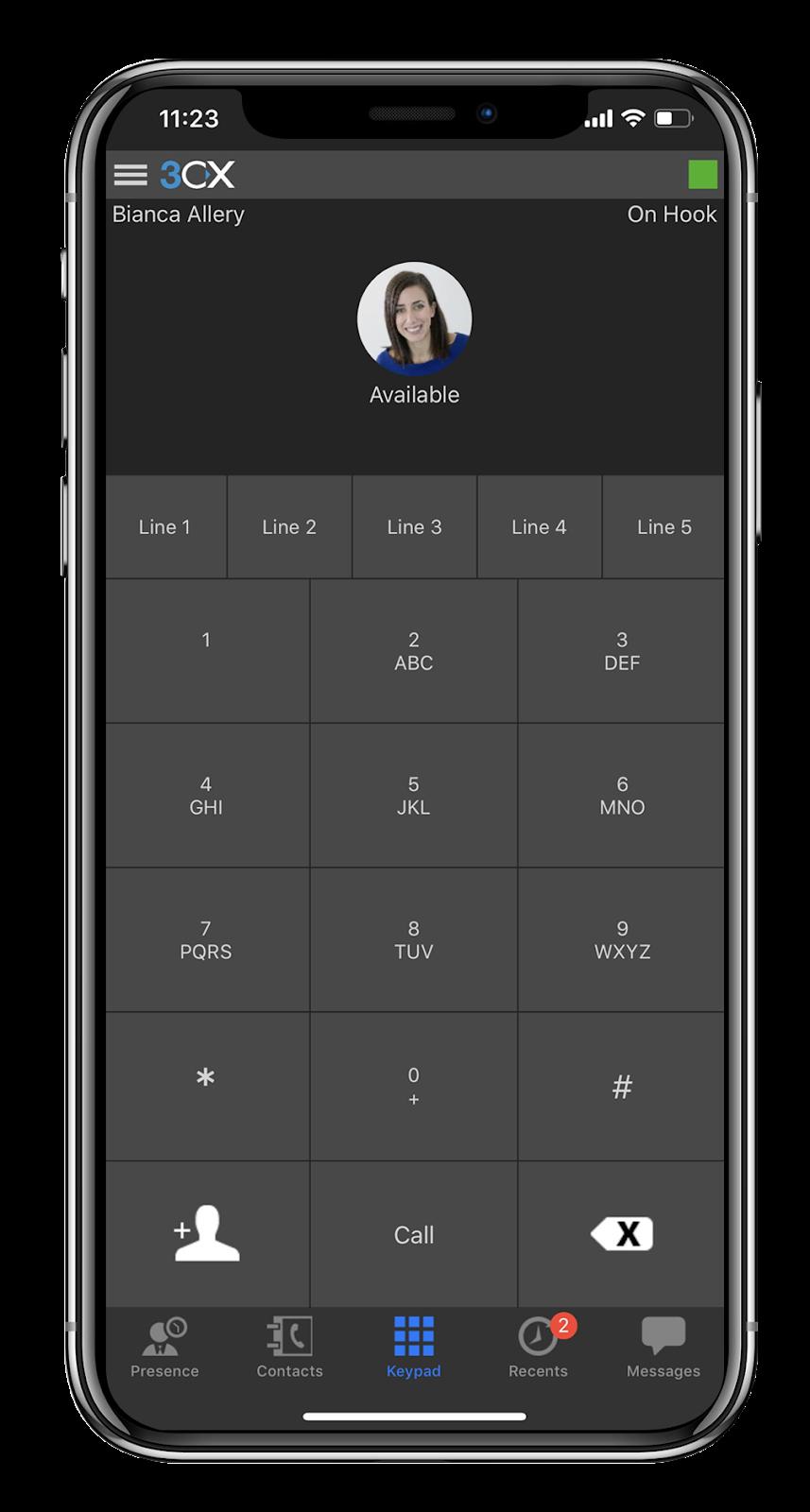 3CX App für iOS auf dem iPhone 6