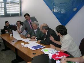 Photo: Firma de Convenios, en presencia del Rector Sr. Telechea Solís, Prof. Umberto Margiotta, Prof. Yenny Aguilera de Zarza