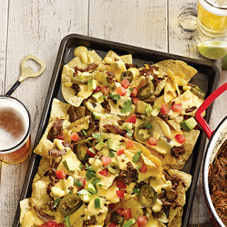 Porter Pulled Pork Nachos with Sriracha Beer Cheese Recipe