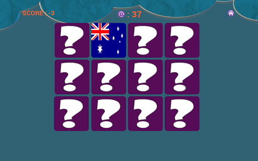 Flags Matching Game