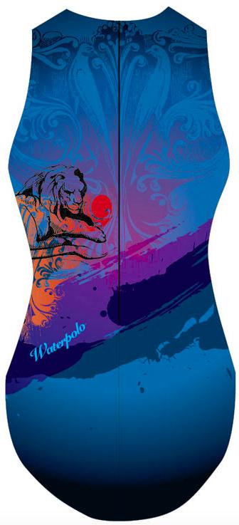 EMO Waterpolo Swimsuit Women ARMOR BLUE