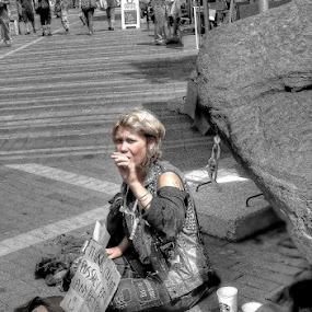 Misery by Michel Arel - People Street & Candids ( woman, street, #pixoto, lady, michel arel )