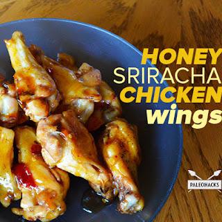 Honey Sriracha Chicken Wings.