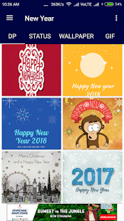 Happy New Year 2018 DP, Gifs & Status - náhled