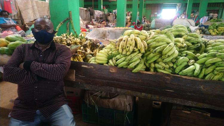 George Ng'ang'a, a trader at Wangige Market.