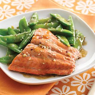 Sesame Salmon & Snap Peas Recipe