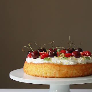 Lemon Yogurt Cake with Lemon Whipped Cream and Fresh Berries.