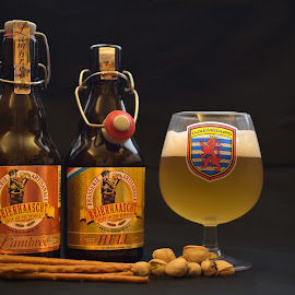 Good Refresh by Marco Bertamé - Artistic Objects Other Objects ( glass, bottle, two, beer )