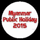 Myanmar Public Holiday 2015 icon