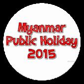 Myanmar Public Holiday 2015